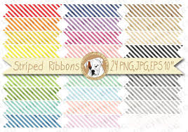 printable ribbon striped ribbons clipart ribbon banners party flags printable