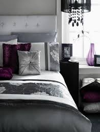 fresh purple and silver bedroom ideas 12 for home interior
