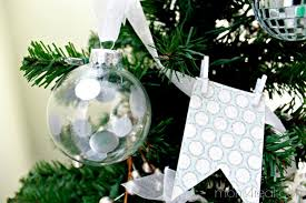 silver painted glass ornaments day 7 of 12 days of