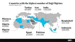 Map Of Islam Around The World by Hajj 2016 Annual Islamic Pilgrimage To Mecca