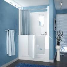 47 x 27 right drain white walk in bathtub shower enclosure