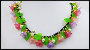 flower bead necklace images Diy perlen blumen kette schmuck acrylic flower beads jpg
