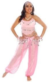 Belly Dancer Halloween Costume Belly Dancer Harem Genie Costume Pink Silver 5224 Www