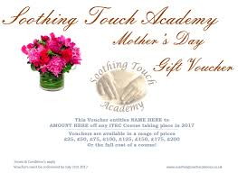 25 Must S Day Gifts Soothing Touch Academy Gift Vouchers