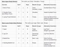 Bench Press Workout Routine Chart Weight Lifting Chart For Beginners Real Fitness