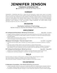 Resume For On Campus Job by Creddle