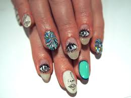 nail art designs manga eyes and james bond from nail salon avarice