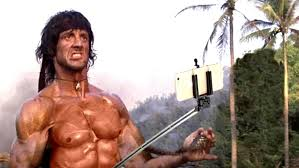 famous movies this is what happens when selfie sticks replace weapons in famous
