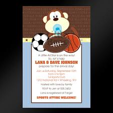 Baby Shower Invitations And Thank You Cards Baby Shower Sports Theme Invitations Theruntime Com