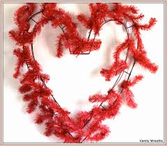 geo mesh wreath vanity wreaths make a heart shaped mesh wreath for valentines day