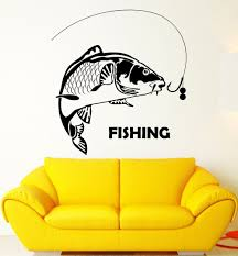 online buy wholesale fish wall murals from china fish wall murals fishing vinyl removable wall sticker fish decal posters wall mural home art home decoration china