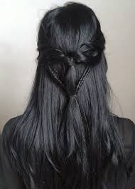 black grey hair cool but looks hard to do hairstyles pinterest dark grey