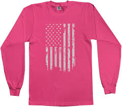 White American Flag Threadrock Kids Distressed White American Flag Youth L S T Shirt