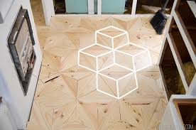 your own geometric wood flooring made diy crafts for