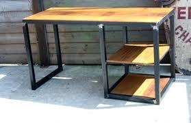 bureau en bois pas cher bureau en metal bureau bois metal caisson de bureau design