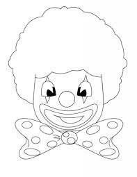 free printable clown coloring pages for kids in clown face