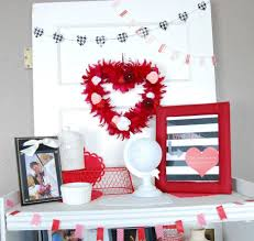 Valentine Day Home Decor by Remarkable White Home Valentine Day Fireplace Interior Design