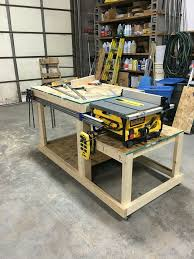 table saw workbench plans exquisite design shop workbench plans best 25 table saw station