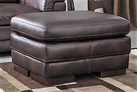 Faux Leather Ottoman New Brown Faux Leather Ottoman Calgary Furniture Exchange