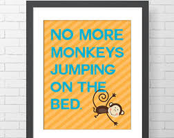 10 Monkeys Jumping On The Bed Monkeys Jumping On The Bed Wall Decal Monkey Wall Decals