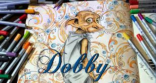 harry potter coloring book dobby youtube