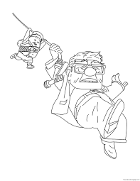 disney up carl fredricksen russell coloring pages for kidsfree