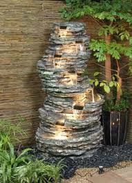 Rock Garden With Water Feature Rock Outdoor Crafts Home