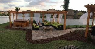 Pergola With Fire Pit by Walkway Patio U0026 Fire Pit Elite Pavers Of Tampa Bay