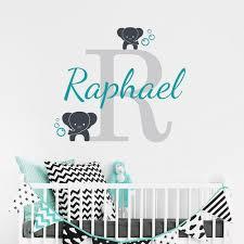 stickers elephant chambre bébé personnalisé nom éléphant sticker pour enfants chambre nom de bébé