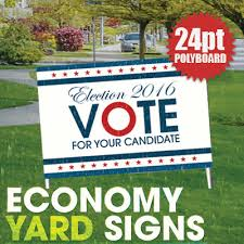 yard signs printed on 24pt polyboard in color by elite flyers