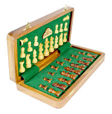 Wooden Chess Set by Wooden Chess Set Travel Magnetic Folding Golden Rosewood 14 U0026 034