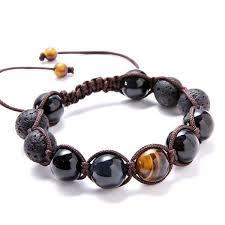 luxury bead bracelet images Luxury lava tiger 39 s eye macrame beaded bracelet mr peachy jpg