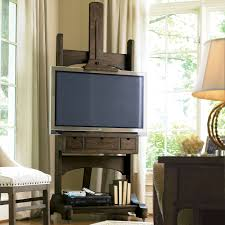 Small Bedroom Tv Stands Great Rooms Media Easel Tv Stand Whiskey Barrel Hayneedle