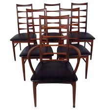 set of ladder back dining chairs by koefoeds hornslet for sale at