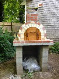 Brick Oven Backyard by The Napier Family Tan U0026 Red Brick Wood Fired Brick Oven