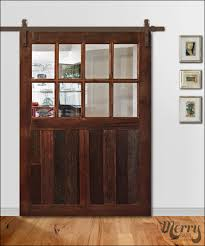 Sliding Barn Doors With Glass by Closet Barn Door With Glass Others Extraordinary Home Design