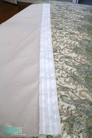 How To Make Pleats In Curtains Diy Easy Pleated Curtains From Sloppy To Structured The