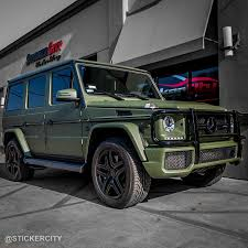 green mercedes matte military green mercedes g wagon 6 sticker city
