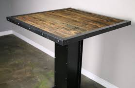 rustic metal and wood dining table rustic metal and wood dining table radionigerialagos com