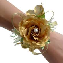 Cheap Corsages For Prom Popular Gold Wrist Corsage Buy Cheap Gold Wrist Corsage Lots From