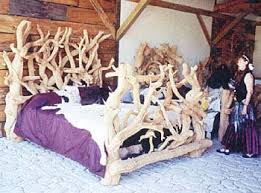 bristlecone pine king or queen bed log bed rustic bed