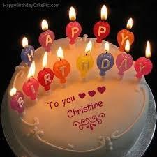 candles happy birthday cake of christine bebop pinterest