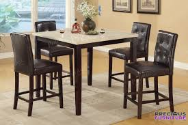 f1144 espresso faux leather counter height chair set of 2