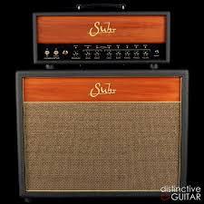 Custom Head Cabinet Suhr Hedgehog 50 Amplifier Head W 2 X 12 Cabinet Black Wood