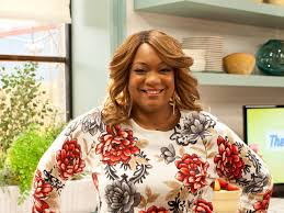 one on one with sunny anderson from the kitchen fn dish behind