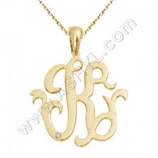 Monogram Necklace Silver Swarovski Monogram Necklace With Single Initial In Sterling Silver
