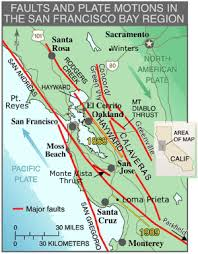 san francisco fault map fault zones northern california