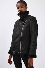 biker jacket petite faux fur biker jacket topshop