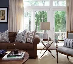 Living Room Curtains Traditional Blue Cream Living Room Living Room Traditional With Area Rug