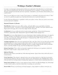 exles of resumes for teachers writing a resume for teaching therpgmovie